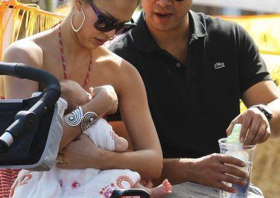Jessica Alba & Cash Warren Take Honor & Baby Haven To The Pumpkin Patch